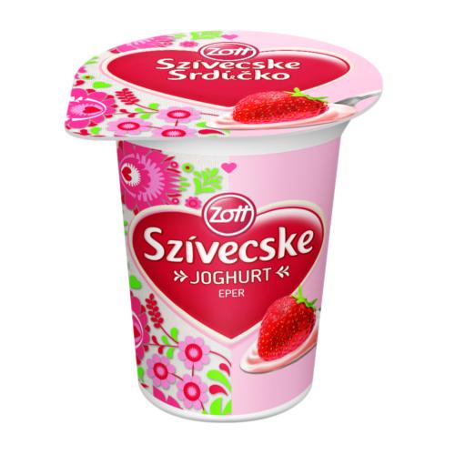 Zott szivecske joghurt  eper/málna/meggy/sárgabarack 125 g