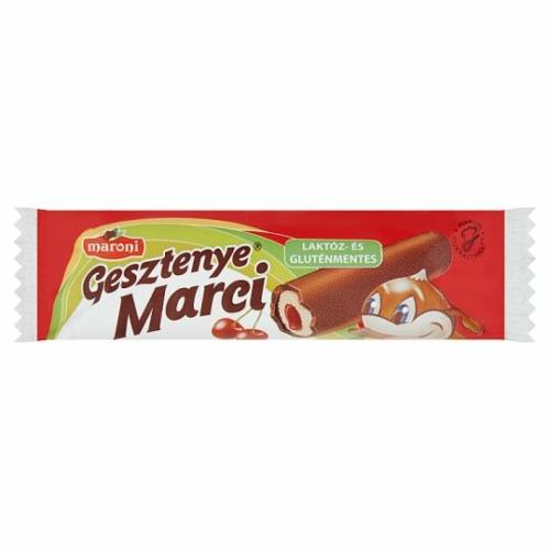 Maroni Gesztenye Marci gesztenye rúd meggyes 30 g laktóz és glutén mentes