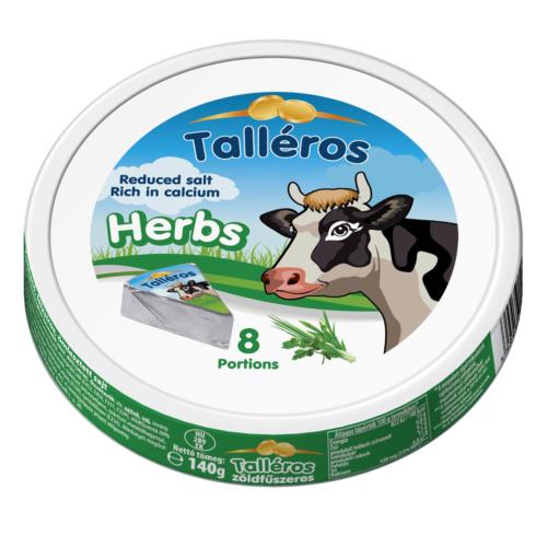 Kőrösi talléros zöldfűszeres sajt 140g 8 cikkes