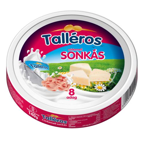 Kőrösi talléros sonkás sajt 140g8 cikkes